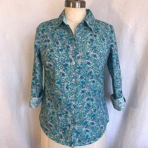 "Croft and Barrow Sm Liberty "" like"" print blouse."
